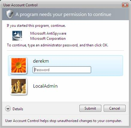 how to get elevated privileges with windows 7