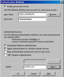 Digest Authentication For Windows Domain Servers