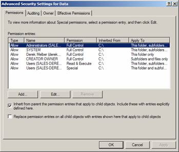 Difference between write and modify ntfs permissions folders