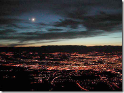 The Moon and Venus over Geneva